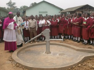 The Water Project : bishop-of-the-catholic-church-in-kakamega-blessing-the-well