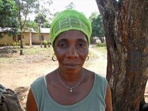 Kadiatu K. - Community Member, discussing her newly donated water project in Sierra Leone