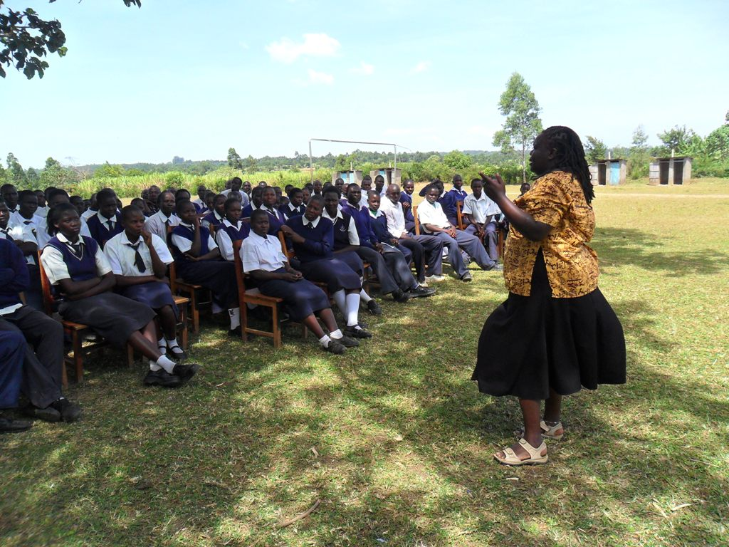 The Water Project : lwanda-k-sec-school-community-education-6