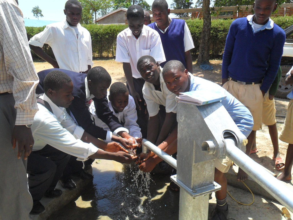 The Water Project : happy-students-lwanda-k-sec-school-2