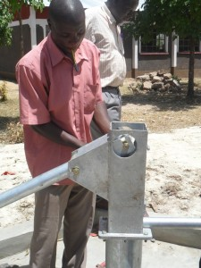 The Water Project : pump-installation-lwanda-k-secondary-school