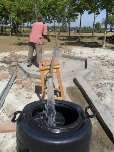 The Water Project : test-pumping-lwanda-k-sec-school-1
