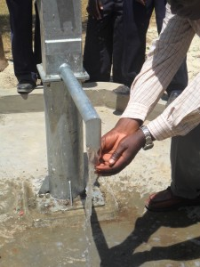 The Water Project : water-flowing-lwanda-k-sec-school-2