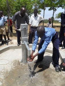 The Water Project : water-flowing-lwanda-k-sec-school-3