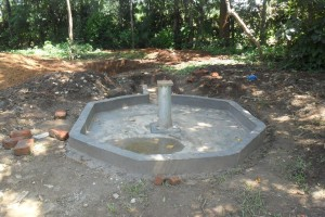 The Water Project : constructed-pad-wazee-hukumbuka