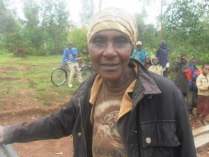 Bonifilida M - Farmer, discussing her newly donated water project in Rwanda