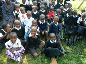 The Water Project : kenya4160-kids-from-the-preparatory-had-something-to-laugh-about