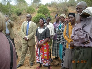 The Water Project : kenya4032_community-members_greetings
