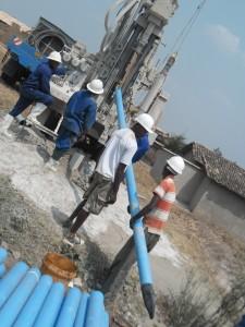The Water Project : rwanda3065-drilling-2