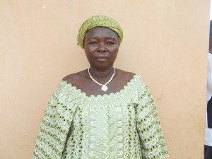 Marima T - Petty Trader, discussing her newly donated water project in Sierra Leone