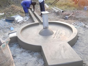 The Water Project : uganda6037-pad-construction