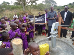 The Water Project : uganda6037-water-flowing-2