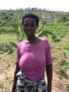Pascaline N - Farme, discussing her newly donated water project in Rwanda