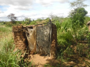 The Water Project : kenya4297-07-first-members-latrine