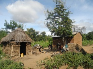 The Water Project : kenya4297-08-general-view-of-first-members-homestead