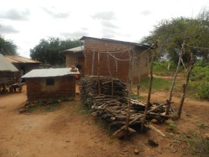 The Water Project : kenya4299-01-first-firewood-and-house