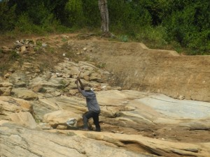The Water Project : kenya4299-18-members-at-work-at-the-new-dam-site
