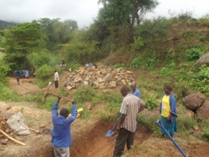 The Water Project : kenya4300-11-kyalimba-dam-in-progress