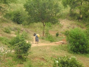 The Water Project : kenya4301-37-members-carry-water-home