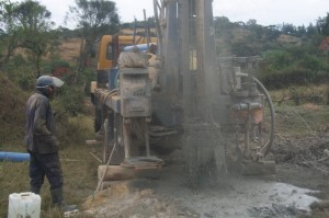 The Water Project : uganda6046-07-kacwangobe-drillin-2