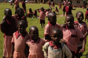 The Water Project : kenya4292-17-students-enjoying-break-on-school-grounds