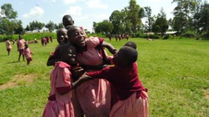 The Water Project : kenya4292-22-girl-students-enjoying-break