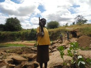 The Water Project : kenya4301-57-dam-site-and-trench