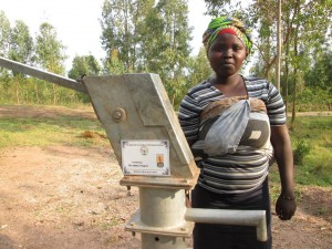 Niragire - Farmer, discussing her newly donated water project in Rwanda