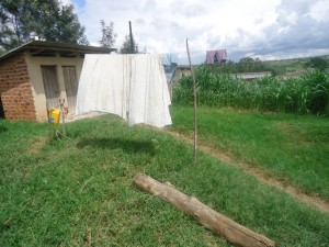 The Water Project : uganda6055-09-clothes-hanging-line