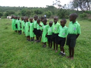 The Water Project : uganda6056-31-dedication-ceremony-poem-by-school-children