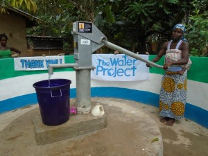 The Water Project : sierraleone5060-05-somebody-pumping-clean-water