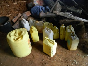 The Water Project : kenya4333-11-students-containers-for-collecting-water-from-their-homes
