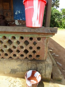 The Water Project : sierra-leone5066-08-handwashing-station-at-one-house