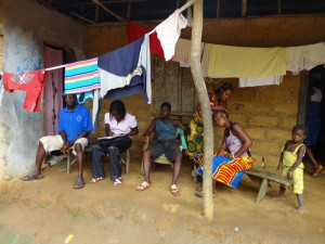 The Water Project : sierra-leone5074-08-community-members-hanging-out