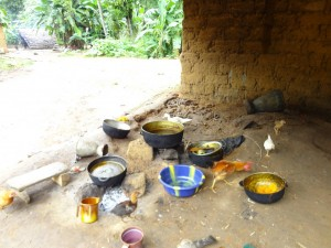 The Water Project : sierra-leone5074-24-messy-bad-hygien-kitchen