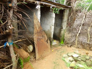 The Water Project : sierraleone5071-38-semi-improved-latrine-falling-down