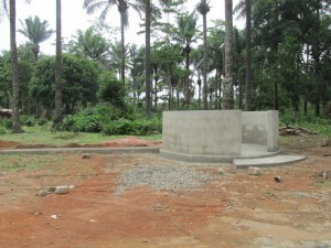 The Water Project : sierraleone5071-64-wall-construction-and-pump-installation
