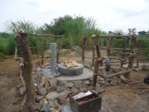 The Water Project : uganda684-13-waiga-constructed-pad