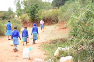 The Water Project : kenya4451-08-heading-back-to-the-school