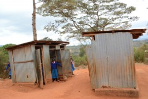 The Water Project : kenya4451-14-girls-toilets
