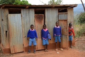The Water Project : kenya4451-17-boys-toilets