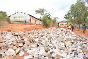 The Water Project : kenya4451-29-construction-materials-on-site