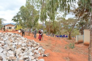 The Water Project : kenya4451-30-construction-materials-on-site