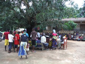 The Water Project : sierraleone5066-56-community-gathering-for-the-hygiene-training-1