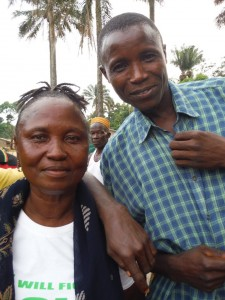 The Water Project : sierraleone5071-81-swamp-drinking-lady
