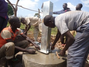 The Water Project : uganda6064-15-pump-installation