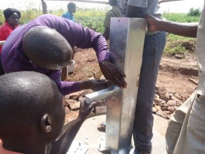 The Water Project : uganda6064-18-pump-installation