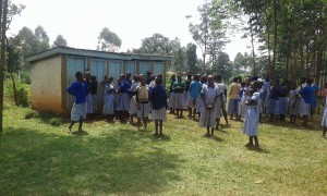 The Water Project : 1-kenya4597-line-at-the-latrines