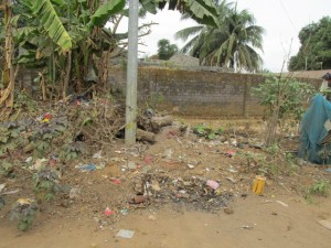 The Water Project : 7-sierraleone5079-trash-in-community