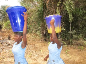 The Water Project : 5-sierraleone5083-fetching-water